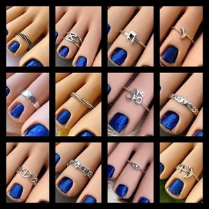 3 FOR $40.00 STERLING SILVER TOE RINGS